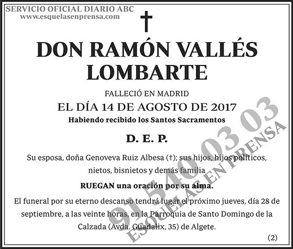 Ramón Vallés Lombarte